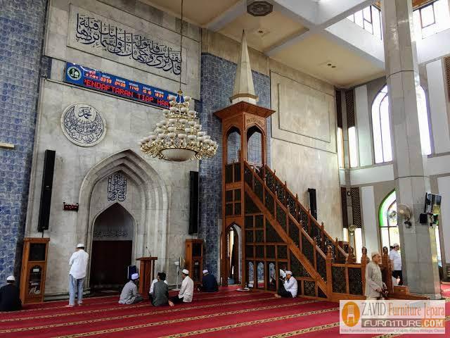 model-gambar-mimbar-masjid Model Gambar Mimbar Masjid Nabawi Madinah Yang Terkenal