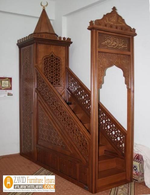model-mimbar-masjid-jati Model Gambar Mimbar Masjid Nabawi Madinah Yang Terkenal