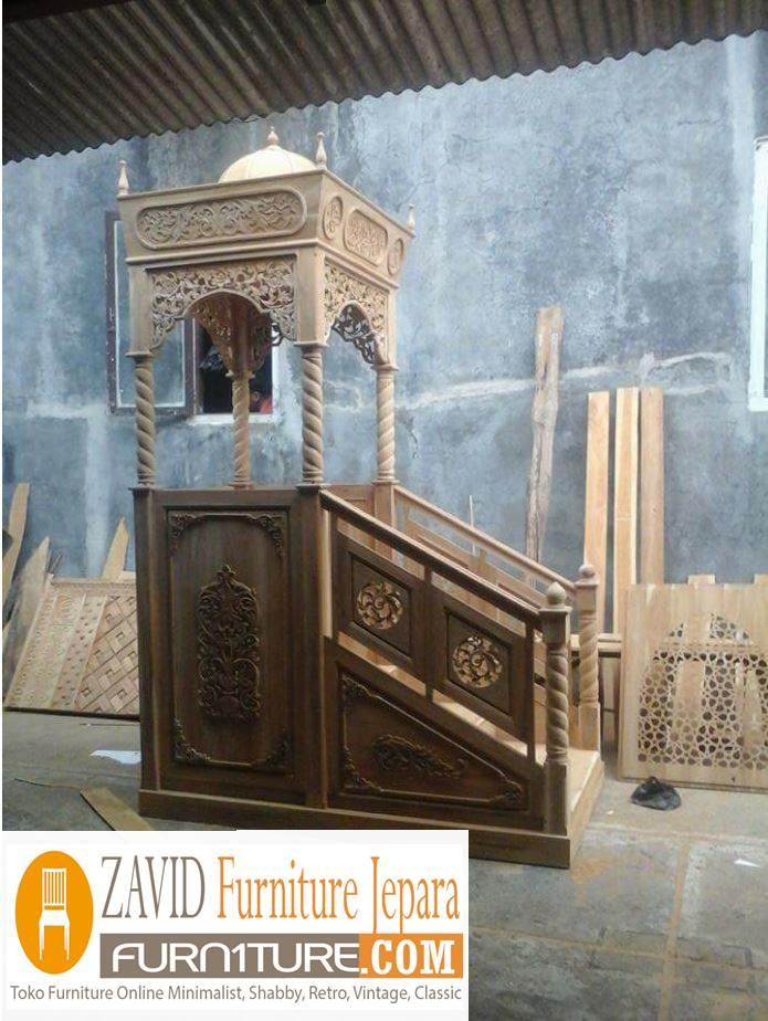 model-mimbar-masjid Model Gambar Mimbar Masjid Nabawi Madinah Yang Terkenal