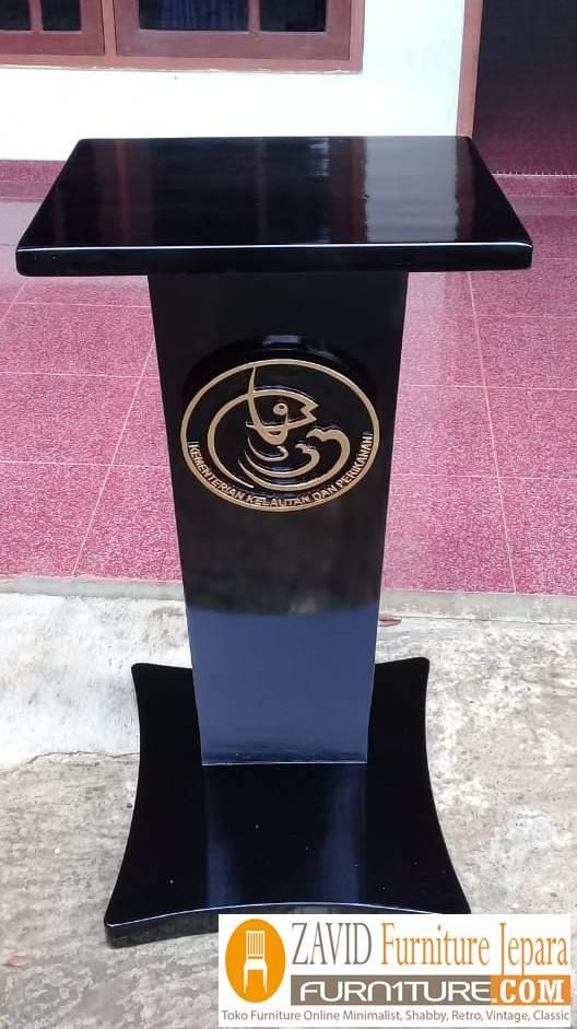 jual podium kementrian kelautan dan perikanan - Podium Kementrian Kayu Jati Solid