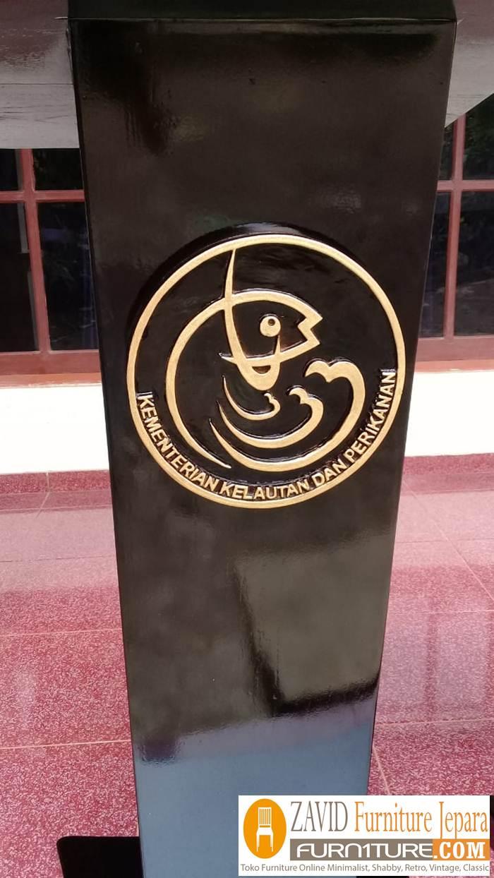 podium-kementrian-perikanan-kayu-jati Podium Kementrian Kelautan dan Perikanan Kayu Jati