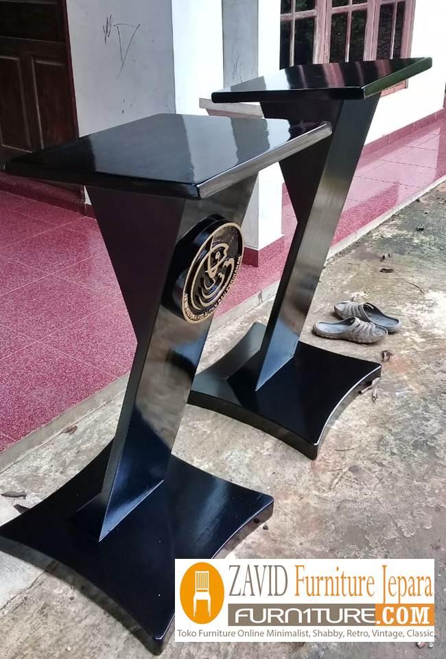 podium kementrian perikanan - Podium Kementrian Kayu Jati Solid