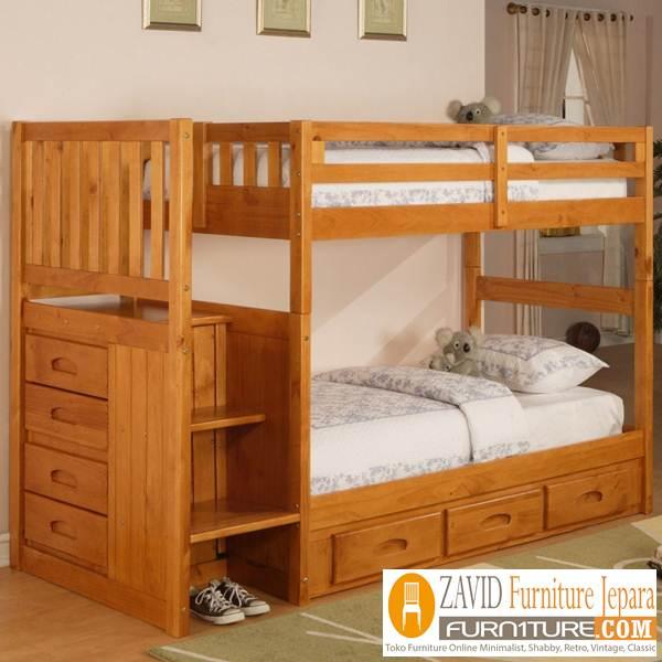 tempat-tidur-tingkat-anak-laki-laki Ranjang Tingkat Kayu Jati Minimalis Untuk Anak Laki-laki