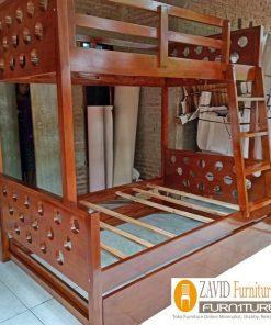 tempat tidur tingkat kayu jati sorong 247x296 - Toko Furniture Jepara | Spesialis Mebel Jepara Online Kota Ukir