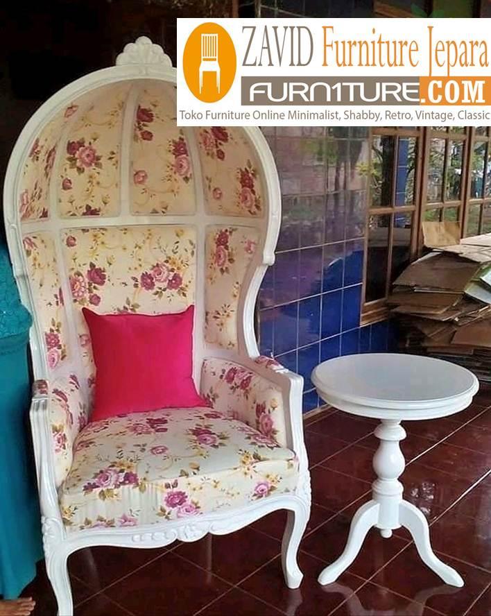 jual kursi teras kerodong - Kursi Sofa Kerudung Untuk Teras Modern Kayu Mahoni Solid