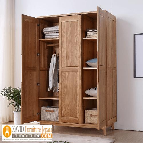 lemari-pakaian-jati-minimalis Model Lemari Baju Gantung Kayu Jati Desain Terlaris