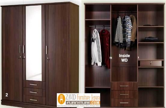 lemari-pakaian-jati-model-gantungan Model Lemari Baju Gantung Kayu Jati Desain Terlaris