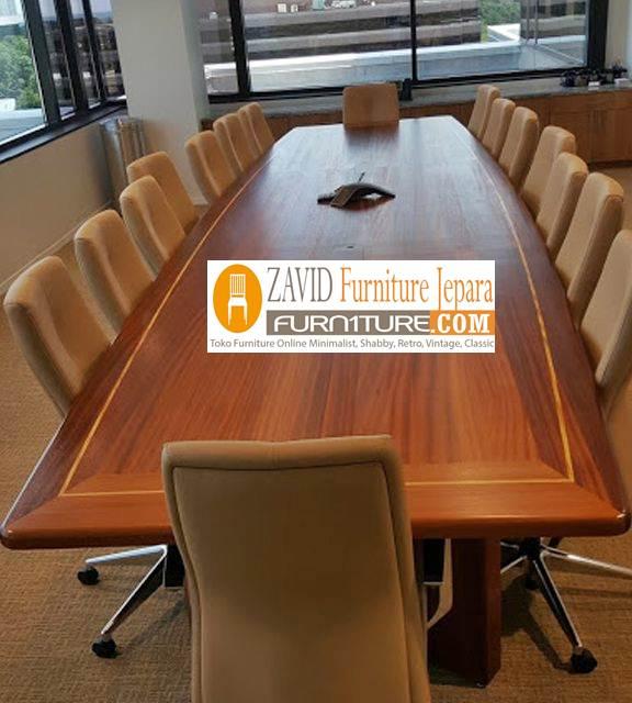 meja meeting kayu jati solid - Jual Meja Meeting Atau Meja Rapat Kayu Jati Solid Terbaik