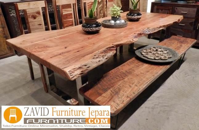 meja-trembesi-antik-desain-klasik Meja Antik Kayu Trembesi Solid Berkualitas Untuk Makan