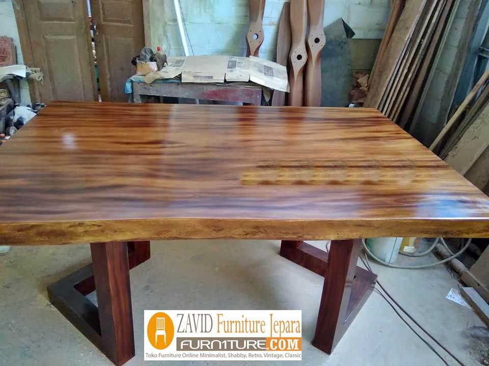 meja-trembesi-solid-sisi-lurus Jual Meja Trembesi Sisi Lurus/Kotak Flat Untuk Meja Makan