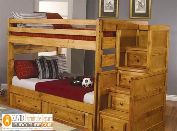 tempat tidur tingkat jati - Jual Tempat Tidur Tingkat Ciledug Dari Pengrajin Jepara