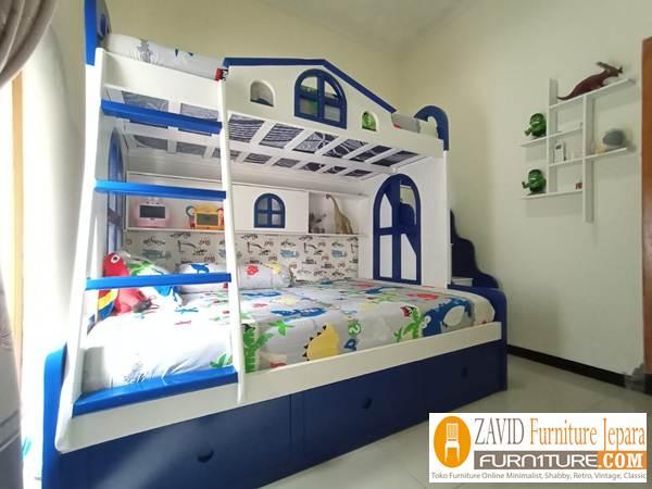 tempat-tidur-tingkat-jogja Tempat Tidur Tingkat Jogja Pesanan Ibu Kulsum dari Mebel Jepara
