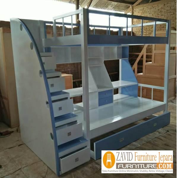 tempat tidur tingkat modern - Jual Tempat Tidur Tingkat Ciledug Dari Pengrajin Jepara