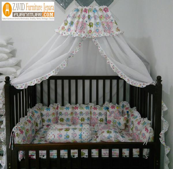 box bayi jati kelambu - Box Bayi Kelambu Kayu Minimalis