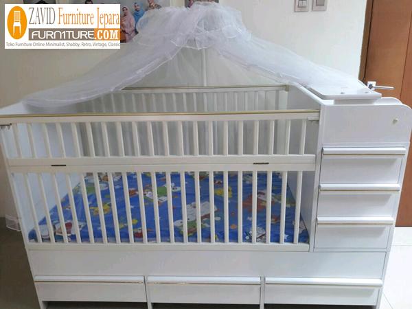 box bayi kelambu minimalis berlaci - Box Bayi Kelambu Kayu Minimalis