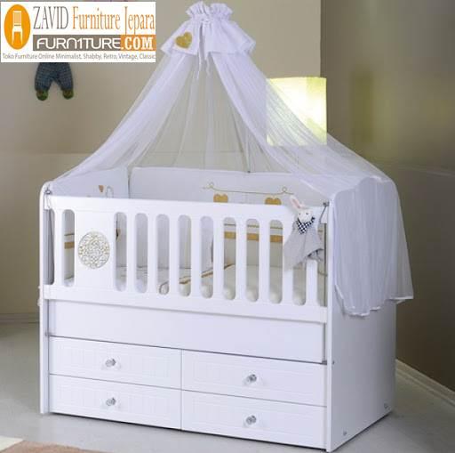 box bayi kelambu - Box Bayi Kelambu Kayu Minimalis