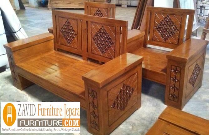 kursi-tamu-minimalis-kayu-jati-solid Kursi Tamu Jati Minimalis & Ukiran Kualitas Terbaik