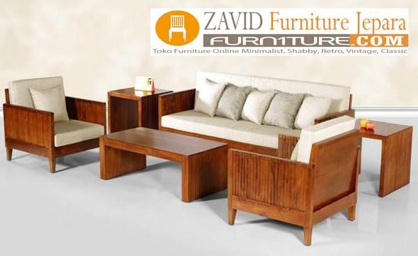kursi tamu sofa jati - Jual Kursi Sofa Modern Rangka Kayu Jati Terbaik Harga Murah