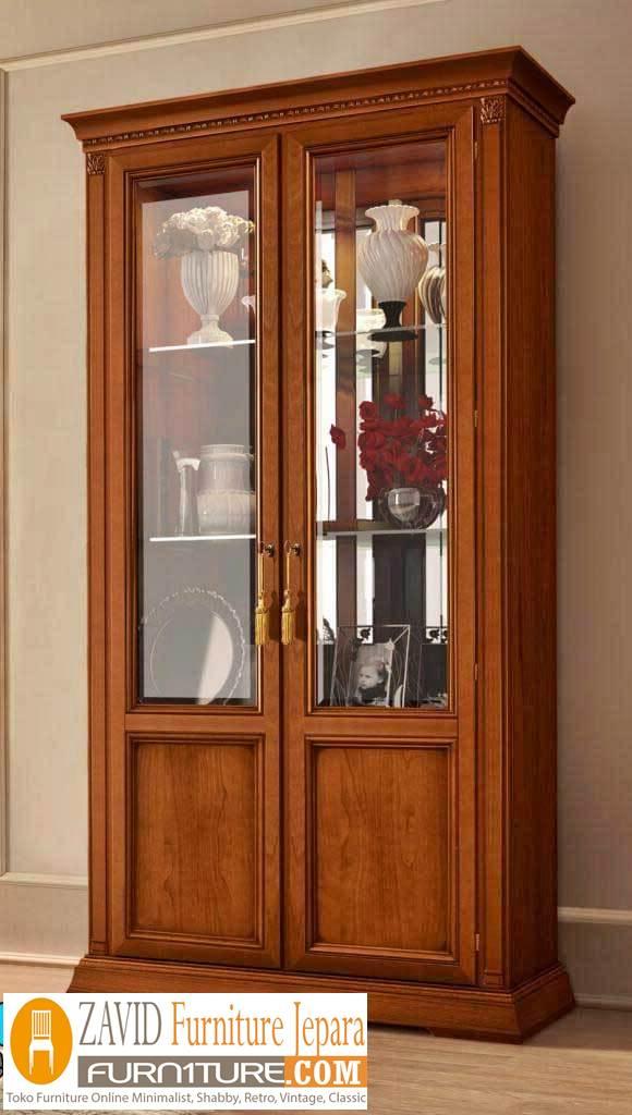lemari hias jati 2 pintu - Lemari Hias Jati 2 Dan 1 Pintu Minimalis Pajangan Terbaru