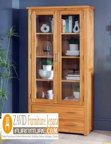 lemari hias minimalis sederhana model 2 pintu - Lemari Hias Jati 2 Dan 1 Pintu Minimalis Pajangan Terbaru