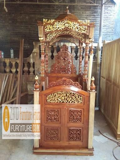 mimbar masjid kubah terlaris - Jual Mimbar Masjid Di Jakarta Terbaru Dari Furniture Zavid