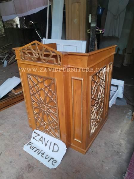 mimbar masjid sederhana kayu jati - Jual Mimbar Masjid Di Jakarta Terbaru Dari Furniture Zavid