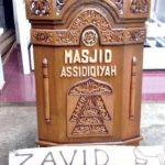 Mimbar Masjid Minimalis Assidiqiyah Kayu Jati Solid