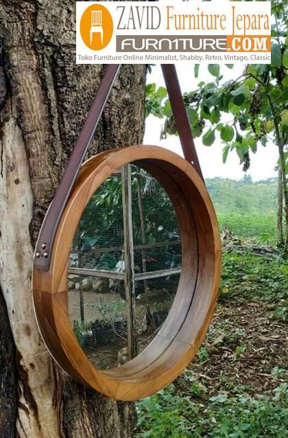 pigura-kaca-kayu-trembesi-bundar Pigura Kayu Trembesi Bundar  Desain Baru Murah