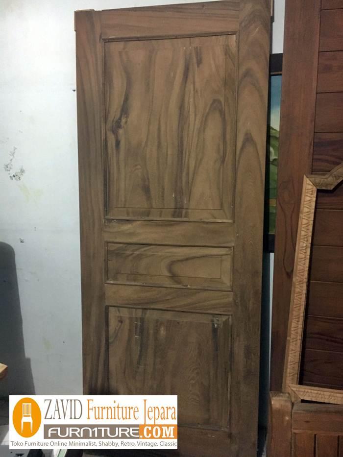 jual pintu rumah kayu trmbesi - Pintu Kayu Trembesi Modern Alami