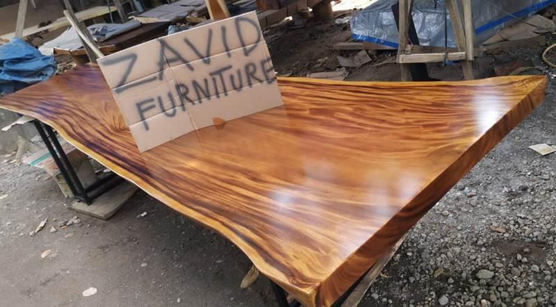 meja makan trembesi kaki besi baru - Meja Trembesi Malang Model Panjang Kaki Besi Untuk Ruang Makan