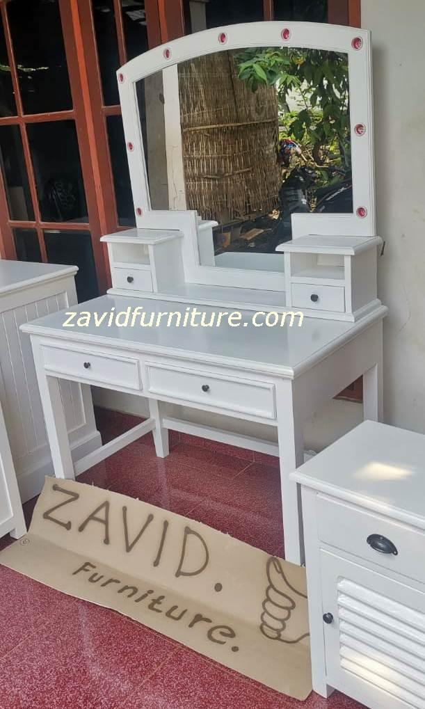 meja rias puth duco modern - Meja Rias Bogor Desain Lampu Minimalis Putih Duco