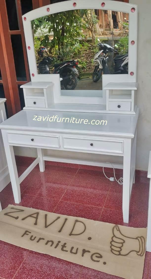 meja rias putih duco sederhana - Meja Rias Bogor Desain Lampu Minimalis Putih Duco