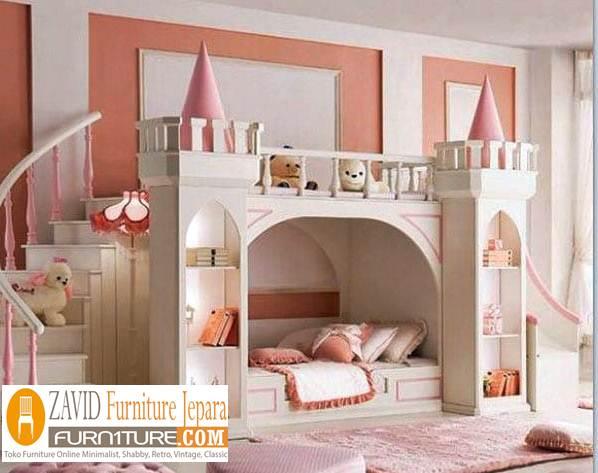 tempat tidur anak istana modern - Tempat Tidur Anak Istana Desain Mewah Modern