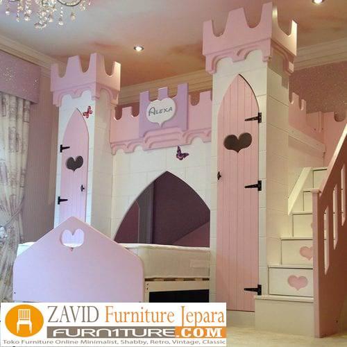tempat tidur anak model istana - Tempat Tidur Anak Istana Desain Mewah Modern