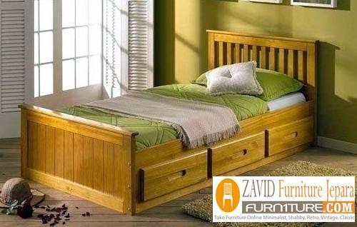 tempat tidur lantai kayu jati baru minimalis - Tempat Tidur Lantai Kasur Alas Minimalis Kayu Jati