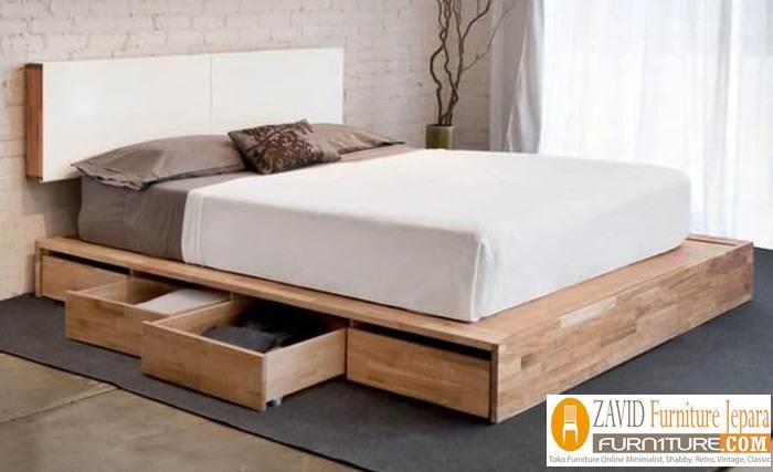tempat tidur lantai kayu jati minimalis - Tempat Tidur Lantai Kasur Alas Minimalis Kayu Jati