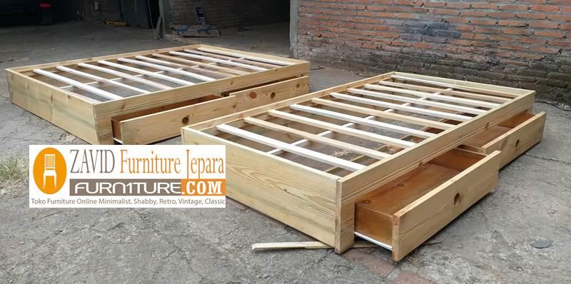tempat tidur lantai kayu jati - Tempat Tidur Lantai Kasur Alas Minimalis Kayu Jati