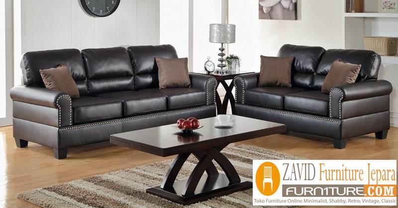 desain kursi sofa kulit asli - Kursi Sofa Kulit Asli Mewah Klasik Terbaru