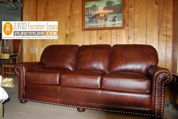 kursi sofa kulit asli - Kursi Sofa Kulit Asli Mewah Klasik Terbaru
