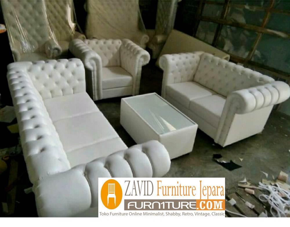 kursi sofa kulit variasi kancing modern - Kursi Sofa Kulit Asli Mewah Klasik Terbaru