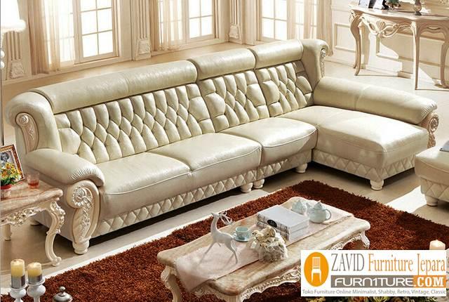 kursi sofa sudut kulit baru - Kursi Sofa Kulit Asli Mewah Klasik Terbaru