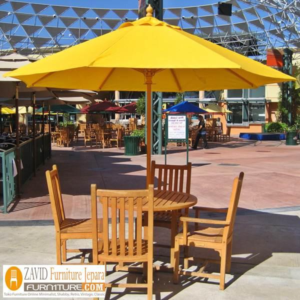 meja kursi pantai payung kayu jati baru 1 - Meja Kursi Pantai Kayu Jati Payung