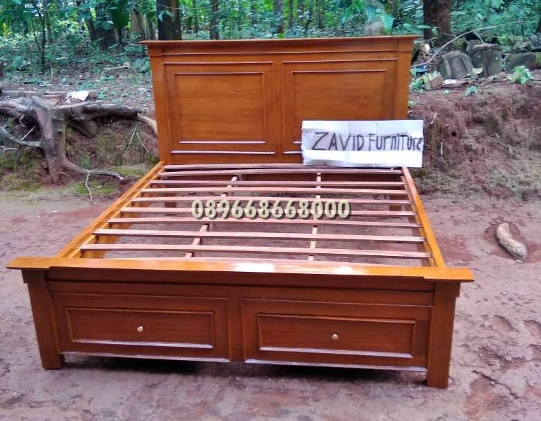 tempat tidur laci kayu jati minimalis solid - Tempat Tidur Laci Gresik Kayu Jati Solid
