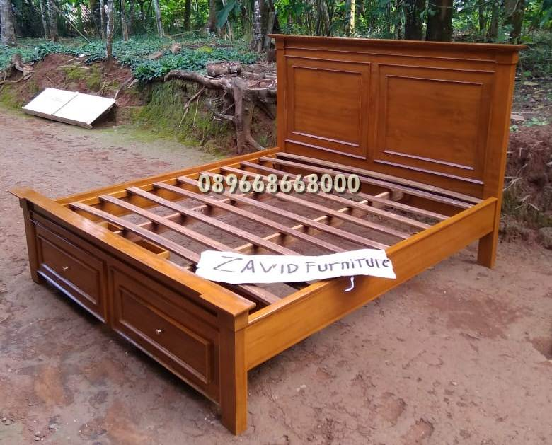 tempat tidur laci minimalis baru kayu jati - Tempat Tidur Laci Gresik Kayu Jati Solid