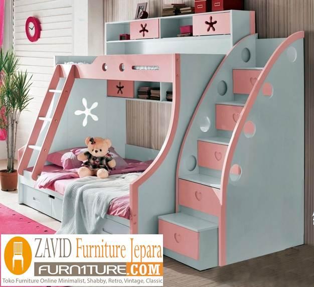 tempat tidur tingkat anak perempuan - Tempat Tidur Tingkat Cianjur Anak Perempuan