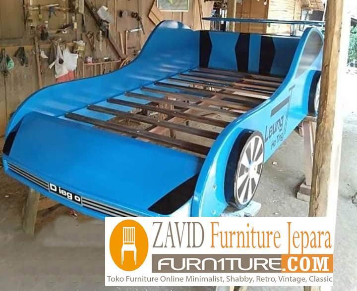 tempat tidur anak karakter mobil - Tempat Tidur Anak Karakter Mobil Balap Untuk Anak Laki-Laki