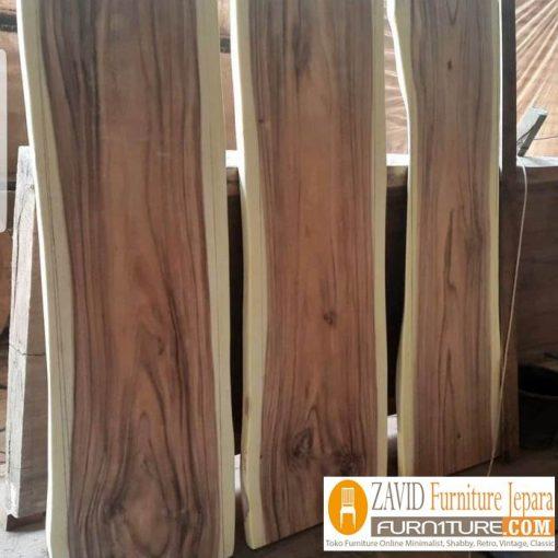 papan kayu trembesi unik