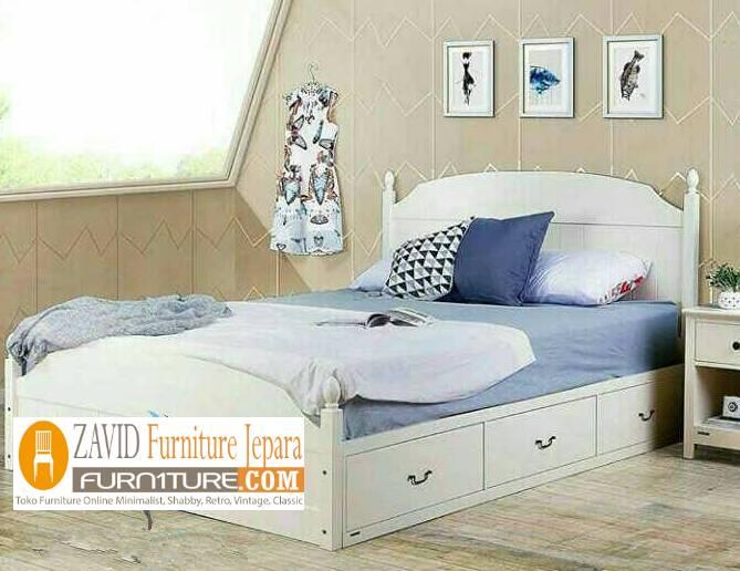 tempat tidur laci duco minimalis baru - Tempat Tidur Laci Bekasi Minimalis Duco