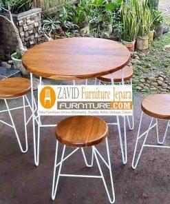 meja cafe kaki besi 247x296 - Toko Furniture Jepara | Spesialis Mebel Jepara Online Kota Ukir