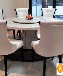 meja makan bundar marmer 247x296 - Toko Furniture Jepara | Spesialis Mebel Jepara Online Kota Ukir
